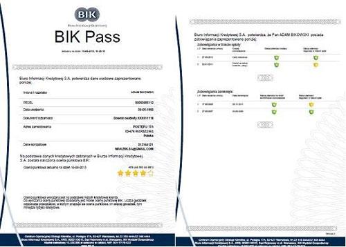 bik pass ocena scoring