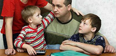 ojciec z trójką dzieci na utrzymaniu