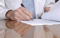 pożyczkobiorca podpisuje umowę