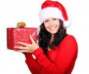 Pani trzyma prezent